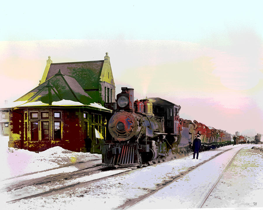 Locomotive Mixed Media - Duluth And Iron Range Railroad by Charles Shoup