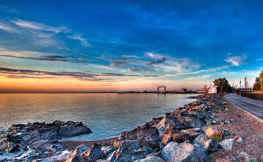 Duluth Photograph - Duluth Harbor by David Wynia