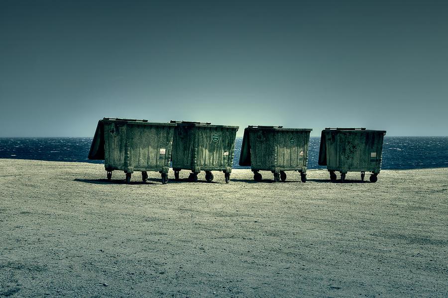 Waste Photograph - Dumpster by Joana Kruse