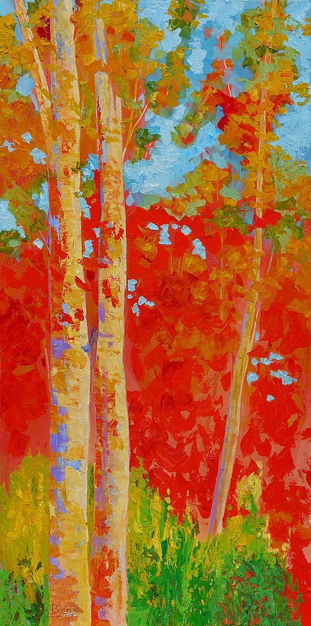 Trees Painting - Duo by Bente Hansen