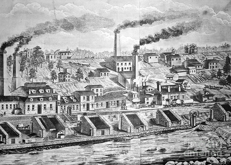 1854 Photograph - Dupont Powder Mill, 1854 by Granger