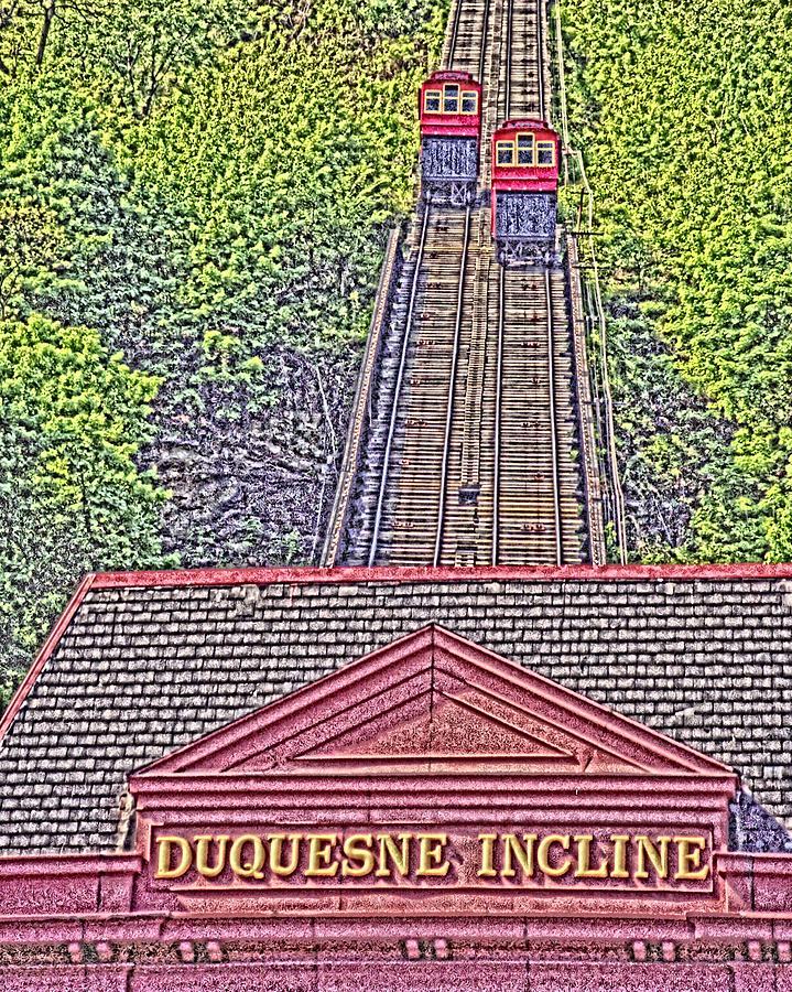 Duquesne Incline Photograph - Duquesne Incline Art by Tom Leach