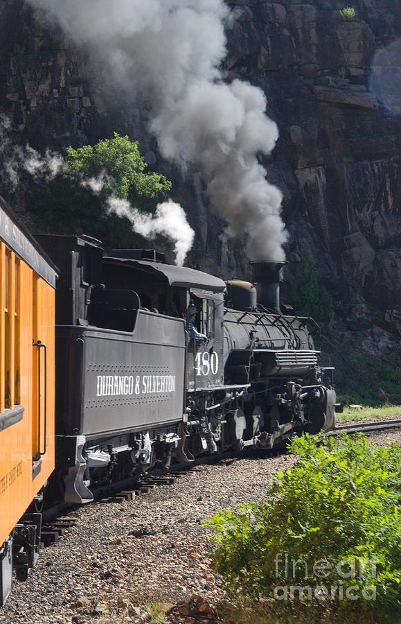 Durango Photograph - Durango And Silverton Historic Train by Stuart Wilson and Photo Researchers