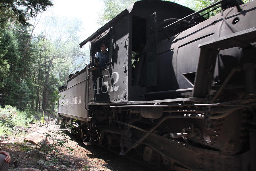 Train Photograph - Durango Angles by Cynthia  Cox Cottam