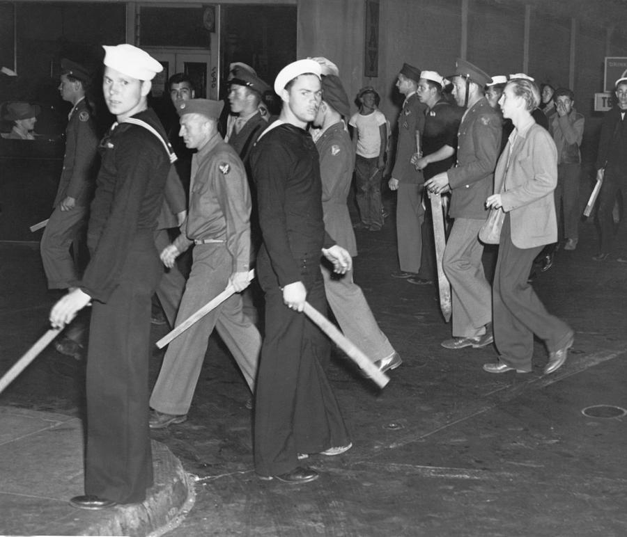 During Zoot Suit Riot, Los Angeles Photograph by Everett