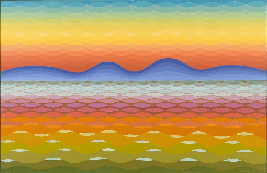 Evening Painting - Dusk At Lake Balaton by Emil Parrag
