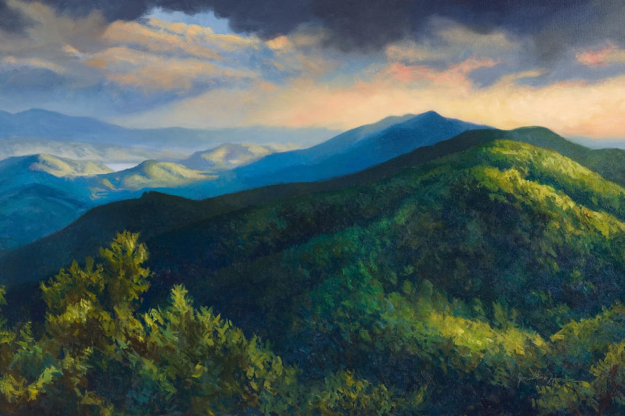 Foothills Painting - Dusk by Jonathan Howe