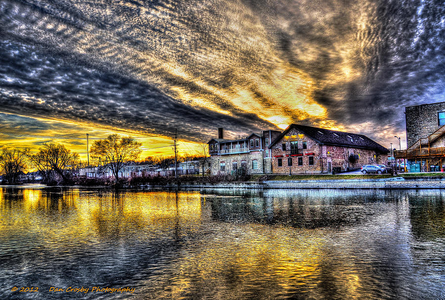 River Photograph - Dusk On The Fox River by Dan Crosby