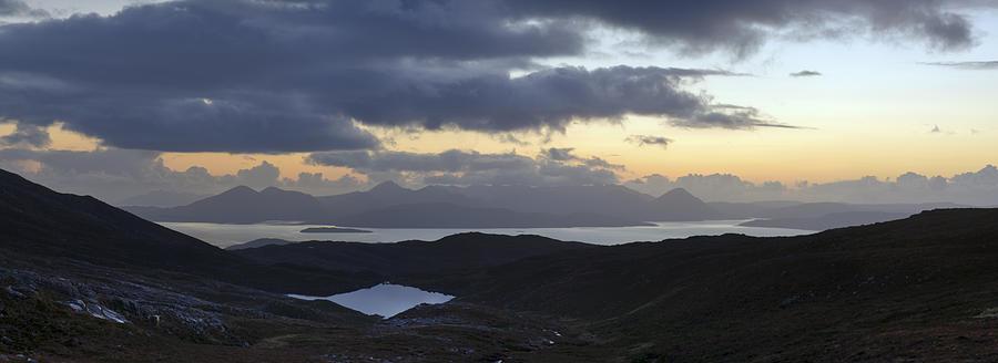 Applecross Peninsula Photograph - Dusk Panorama Of Skye by Gary Eason