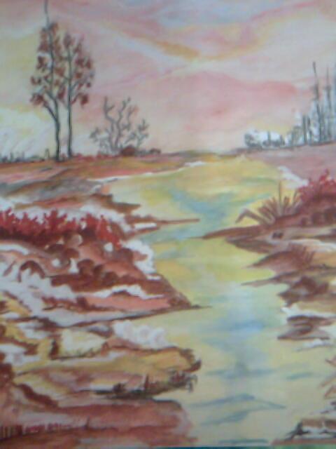 Landscape Painting - Dusk by Seema Sharma