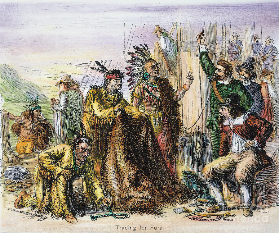 Dutch Fur Trade Photograph By Granger