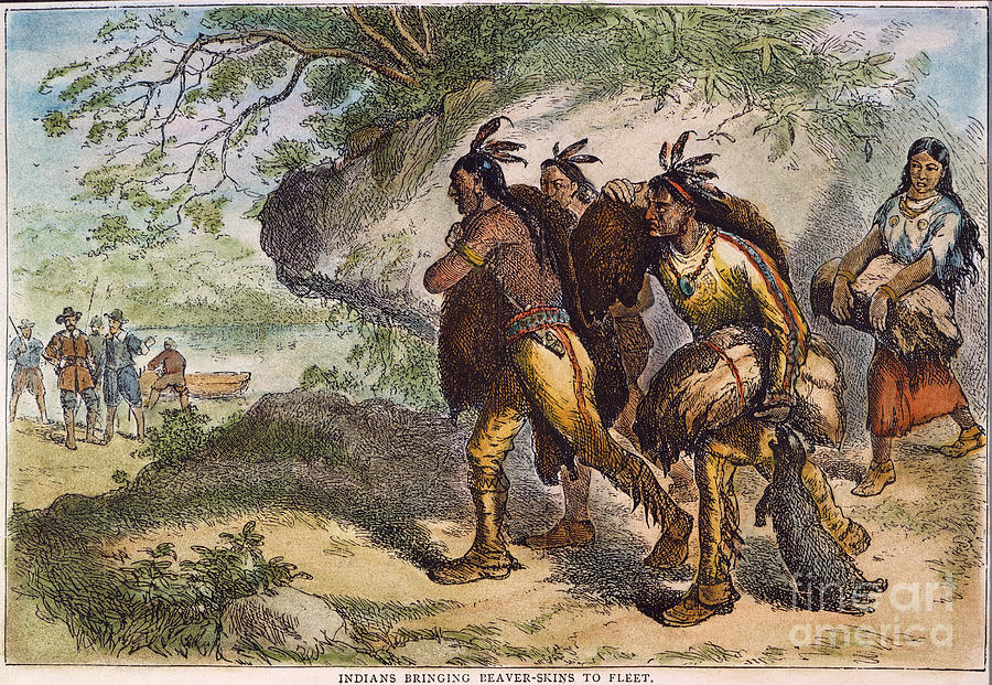 Dutch Fur Traders 17th C Photograph By Granger
