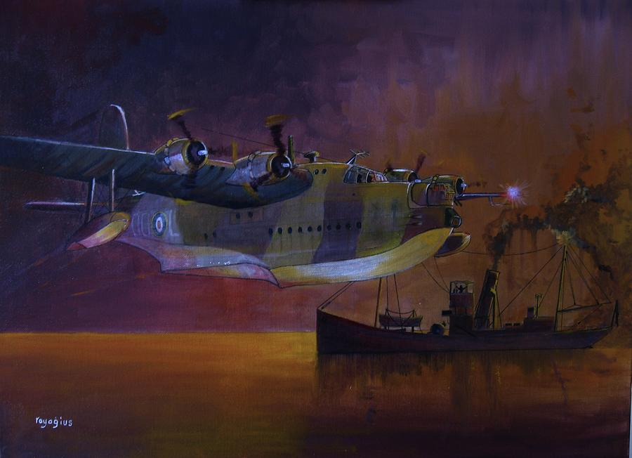 Ship Painting - Duty Done by Ray Agius