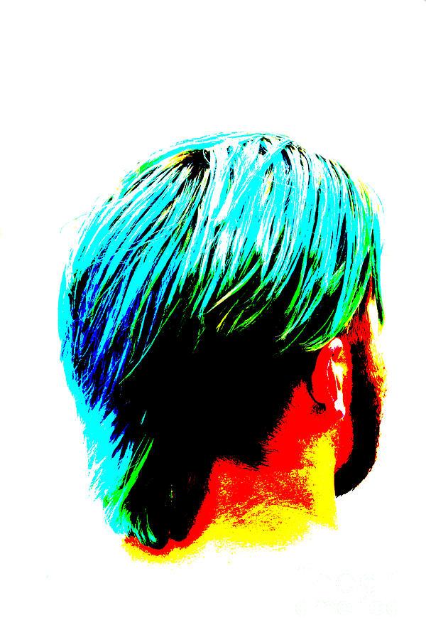 Adult Photograph - Dyed Hair Man by Susan Stevenson