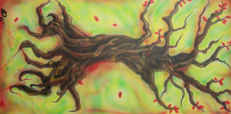 Tree Painting - Dying Love by Phillip Whitehead