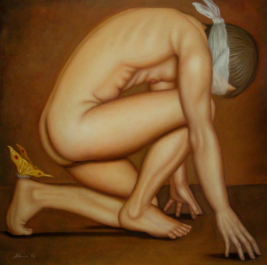 Nude Painting - E da tanto che ti aspetto by Alessandra Veccia