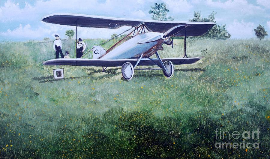 E Ppley Airfield Painting by Judy Groves
