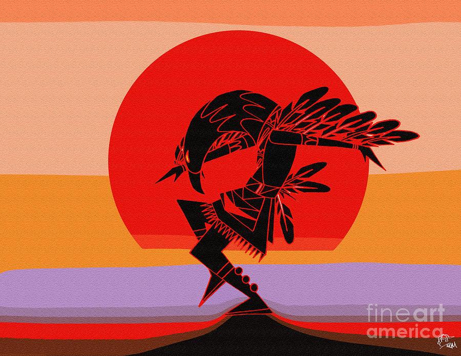 Eagle Digital Art - Eagle Dancer by MJ Marin