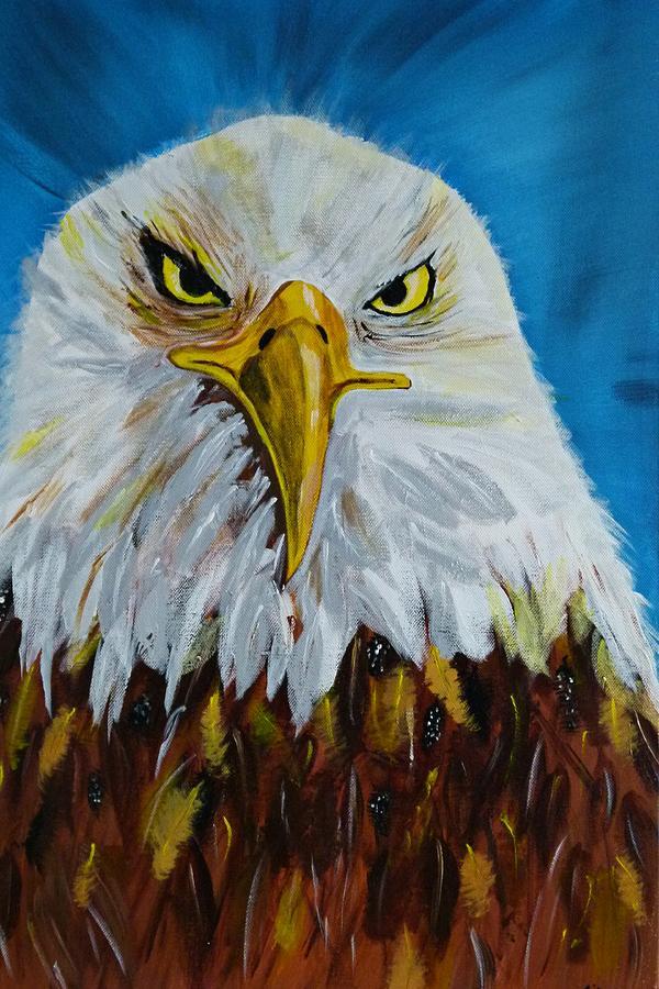 Acrylic On Canvas Painting - Eagle by Ismeta Gruenwald