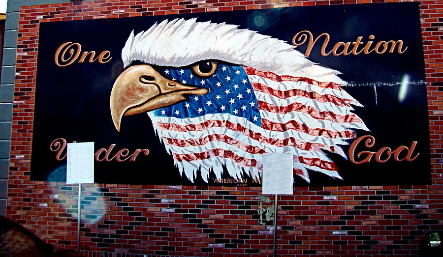 Mural Photograph - Eagle Mural by Nick Kloepping
