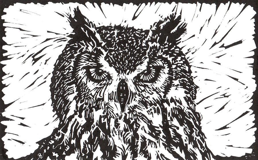 Owl Mixed Media - Eagle Owl by Julia Forsyth