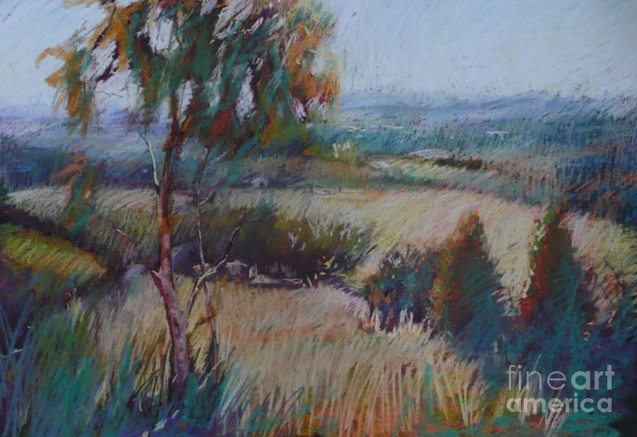 Pastel Landscape Painting - Eagles Lookout by Pamela Pretty