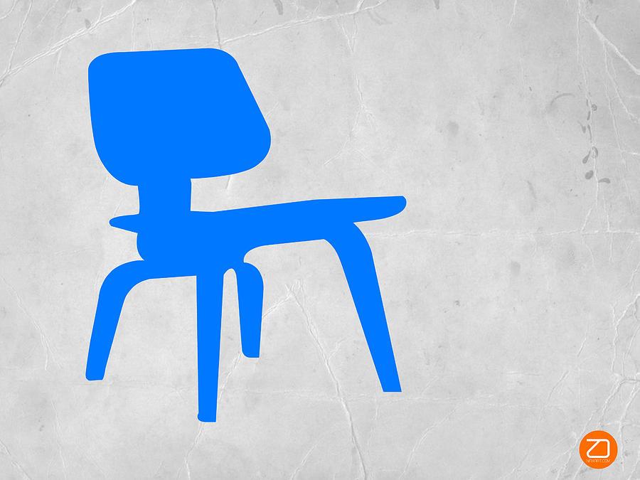 Eames Chair Photograph - Eames Blue Chair by Naxart Studio