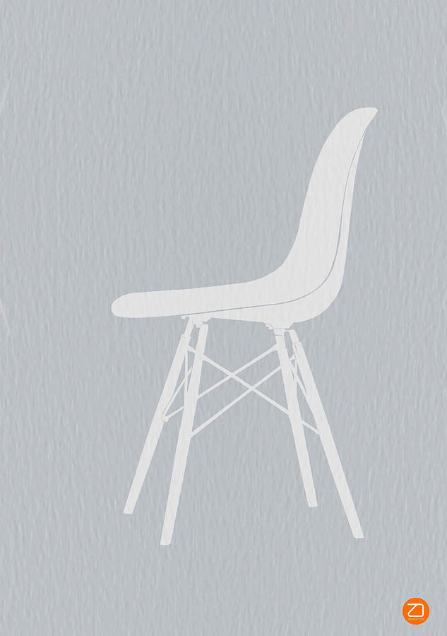 Eames Chair Photograph - Eames Fiberglass Chair by Naxart Studio