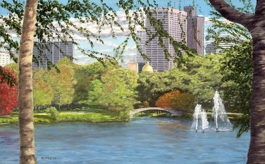 Boston Painting - Early Color On Esplanade by William Frew