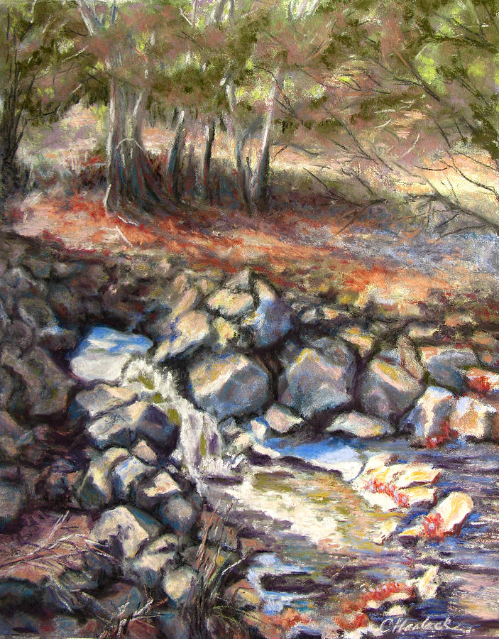 Landscape Pastel - Early Fall At Madera Canyon by Carole Haslock