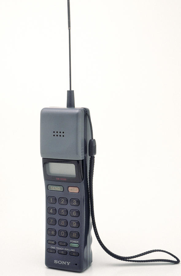 Equipment Photograph - Early Mobile Phone by Victor De Schwanberg