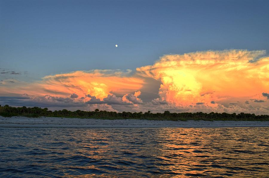Landscape Photograph - Early Moon by Bob Jackson