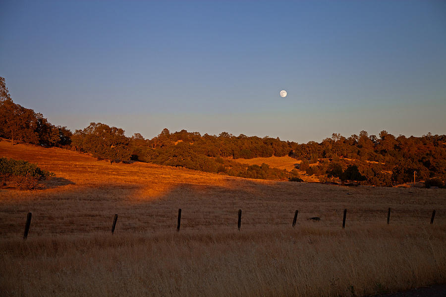 Campo Seco California Photograph - Early Moon Over Campo Seco by Joe Fernandez