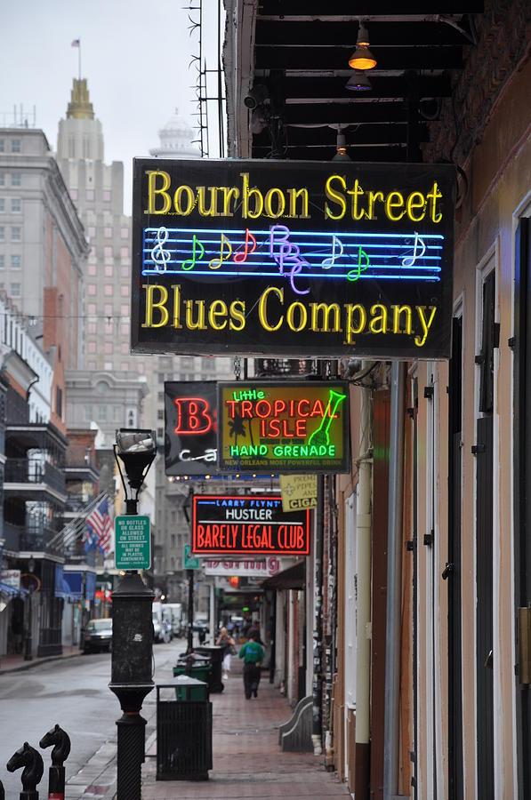 Bourbon Street Photograph - Early Morning Bourbon Street by Bill Cannon