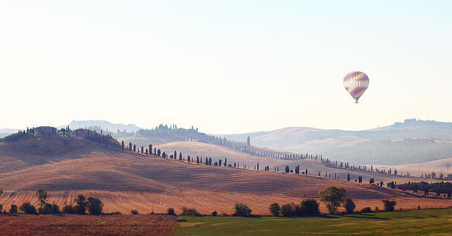 Horizontal Photograph - Early Morning In Tuscany by Lena Khachina