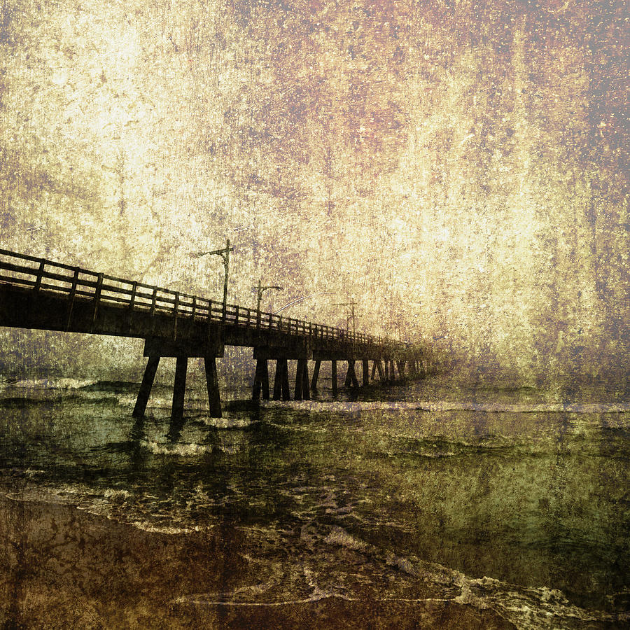 Absence Photograph - Early Morning Pier by Skip Nall