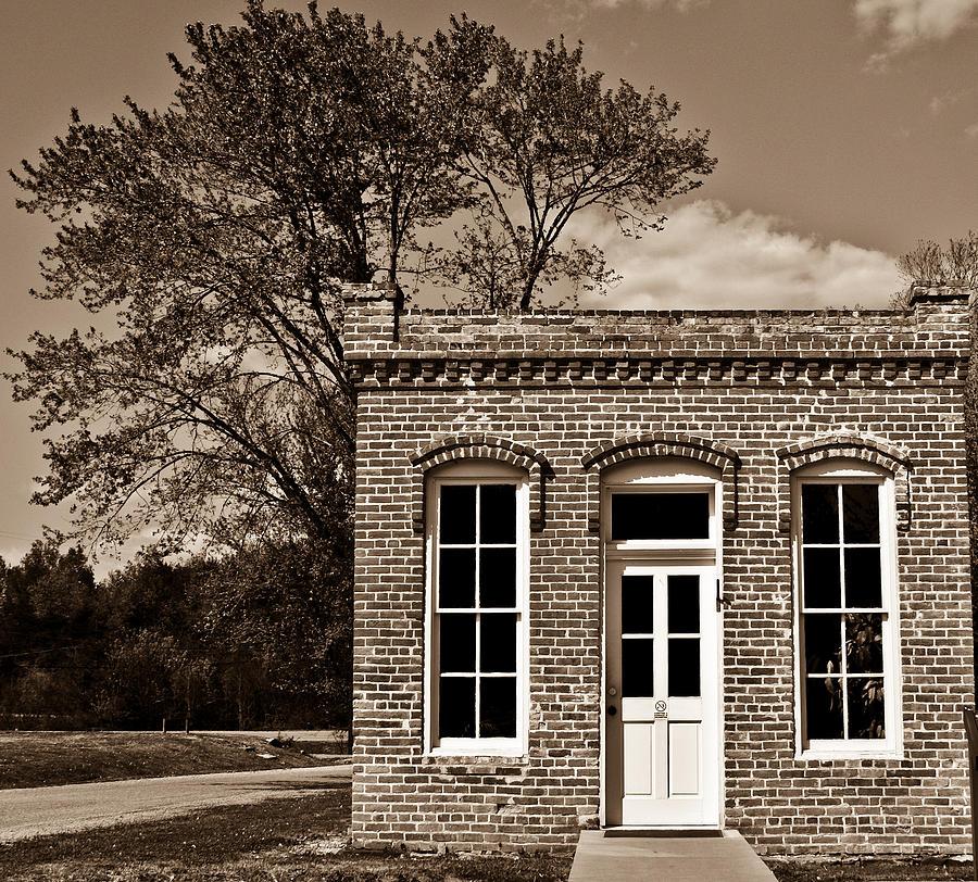 Early Photograph - Early Office Building by Douglas Barnett