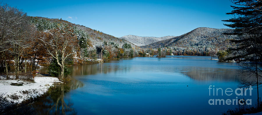 Mountain Photograph - Early Snow In Vermont by Edward Fielding