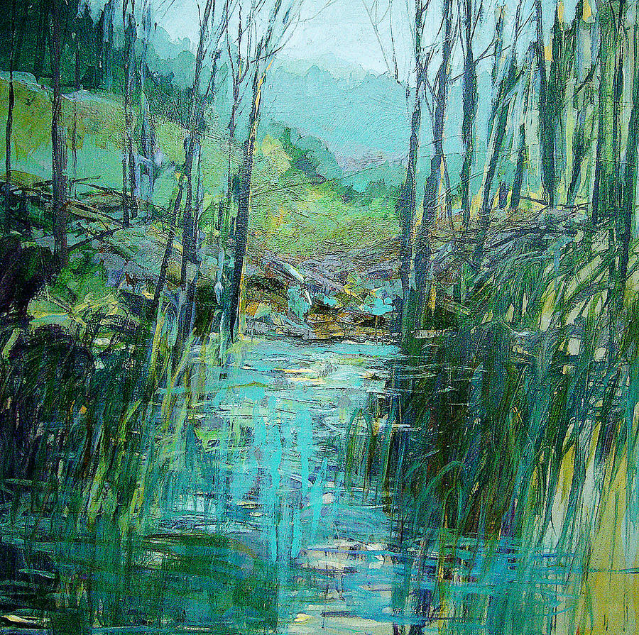 Landscape Painting - Early Spring II by Dale  Witherow