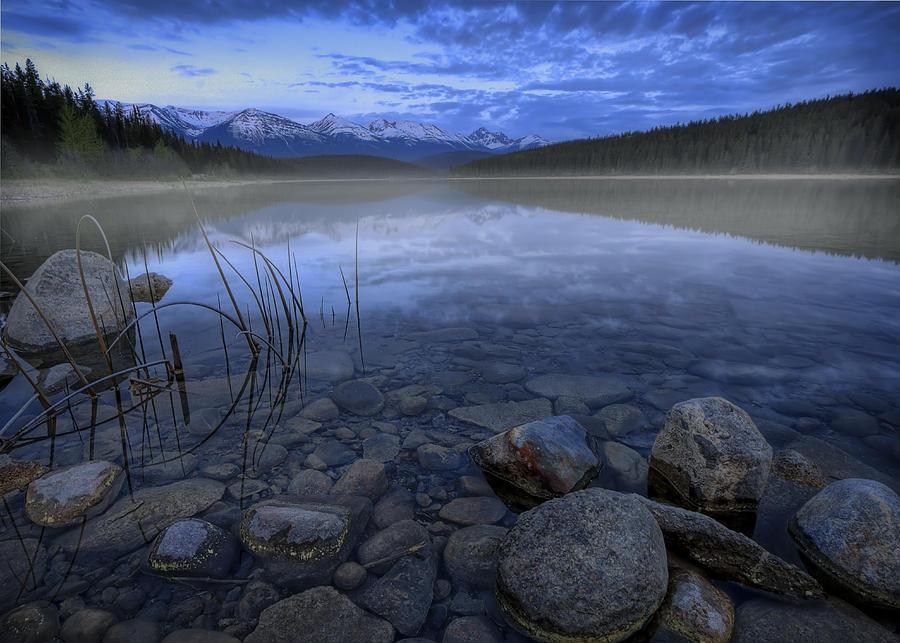 Blue Photograph - Early Summer Morning On Patricia Lake by Dan Jurak