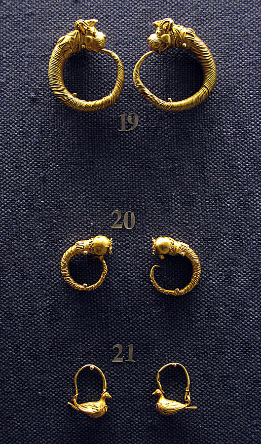Ancient Earrings Photograph - Earrings by Andonis Katanos