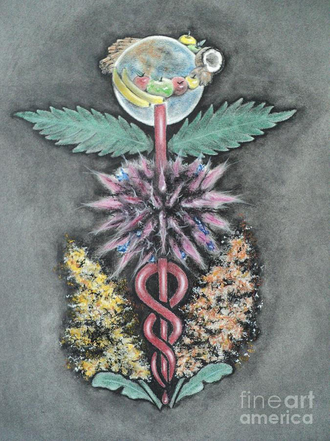 Organic Drawing - Earth Angel by Carla Carson