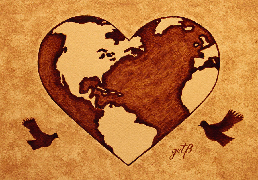 Earth Day Gaia Celebration Coffee Painting By