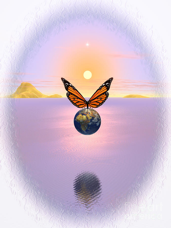 Butterfly Digital Art - Earth Dream by Harald Dastis