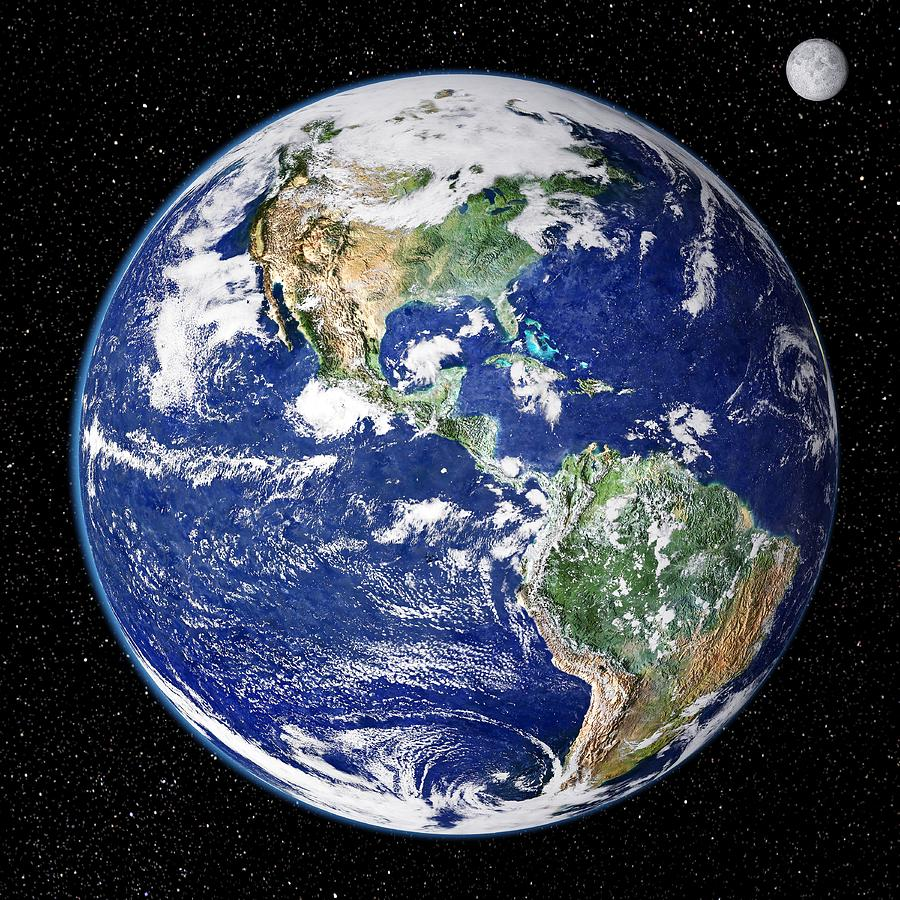 South America Photograph - Earth From Space, Satellite Image by Nasa Goddard Space Flight Center (nasa-gsfc)