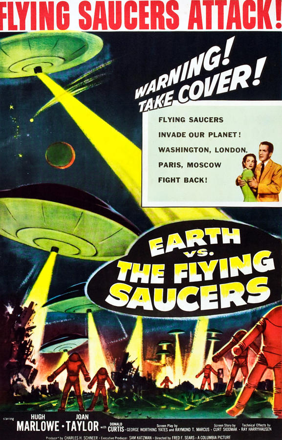 1956 Movies Photograph - Earth Vs. The Flying Saucers, 1956 by Everett