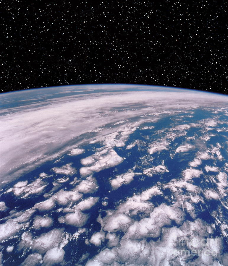 Starfields Photograph - Earth With Starfield by NASA / Science Source