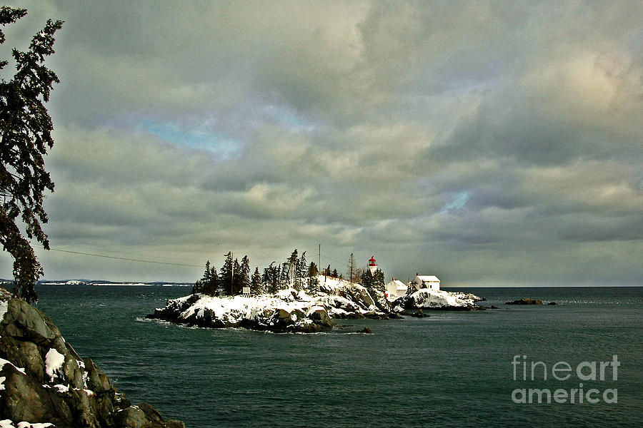 Campebello Photograph - East Quoddy Lighthouse by Alana Ranney