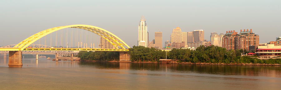 Skyline Photograph - East Side Pano by Keith Allen