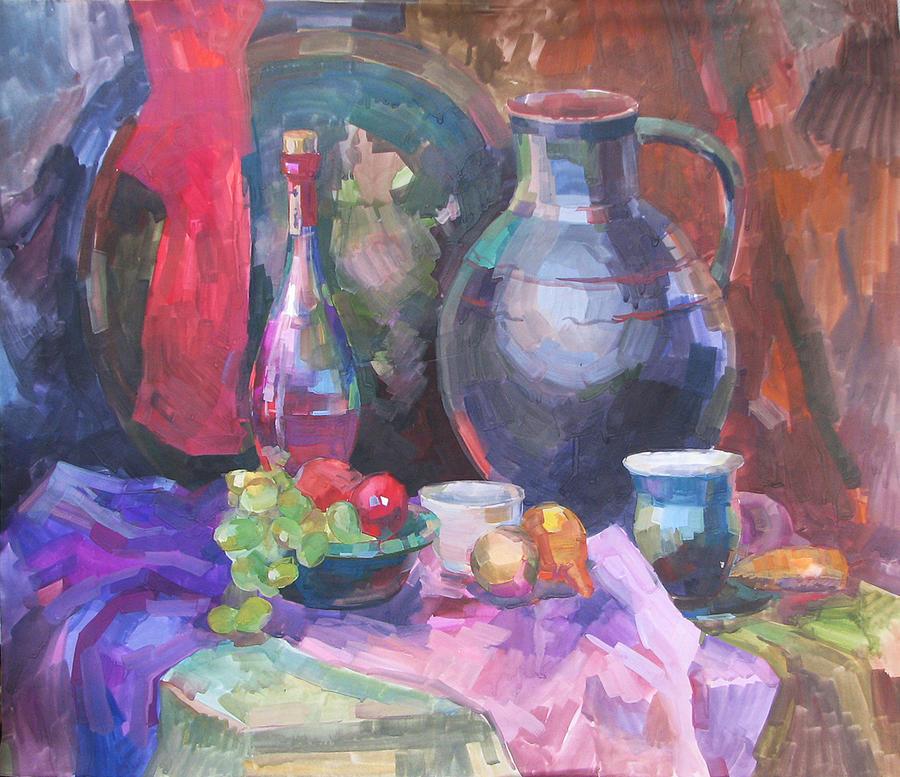 Still Life Painting - East Still Life With A Jug by Juliya Zhukova